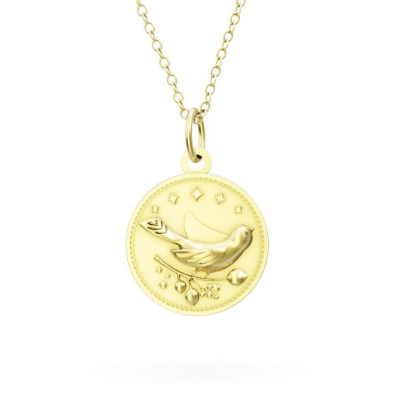 Licensed to Charm - Gold Vermeil Enchanted Animals Bird Necklace Set