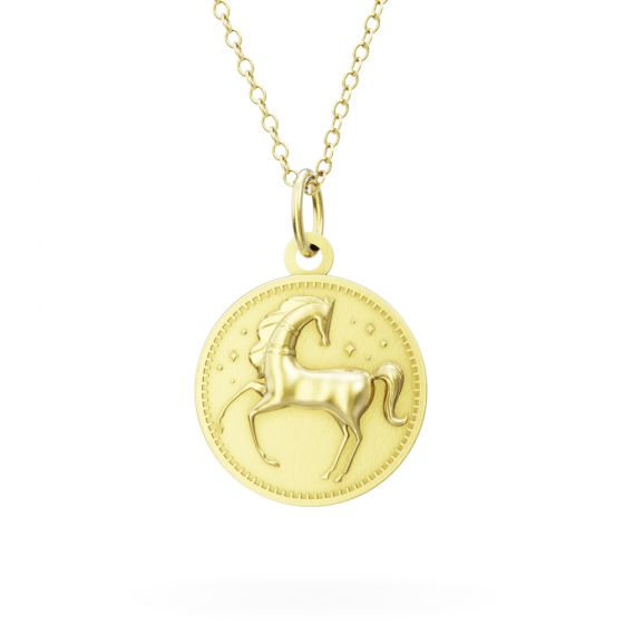 Licensed to Charm - Gold Vermeil Enchanted Animals Horse Necklace Set