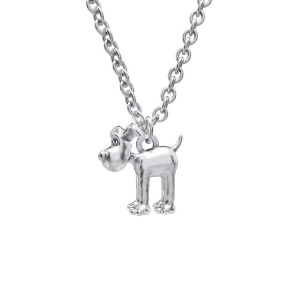 Sterling Silver Standing Gromit Necklace Set