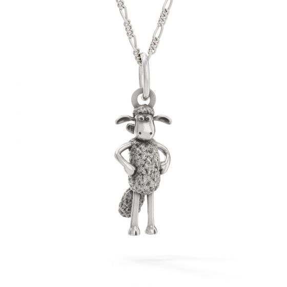 Shaun The Sheep - Sterling Silver Standing Shaun Necklace Set