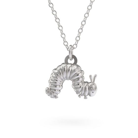 Sterling Silver Very Hungry Caterpillar Necklace Set