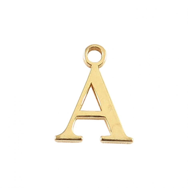 Gold Vermeil Mini Alphabet Charm - A