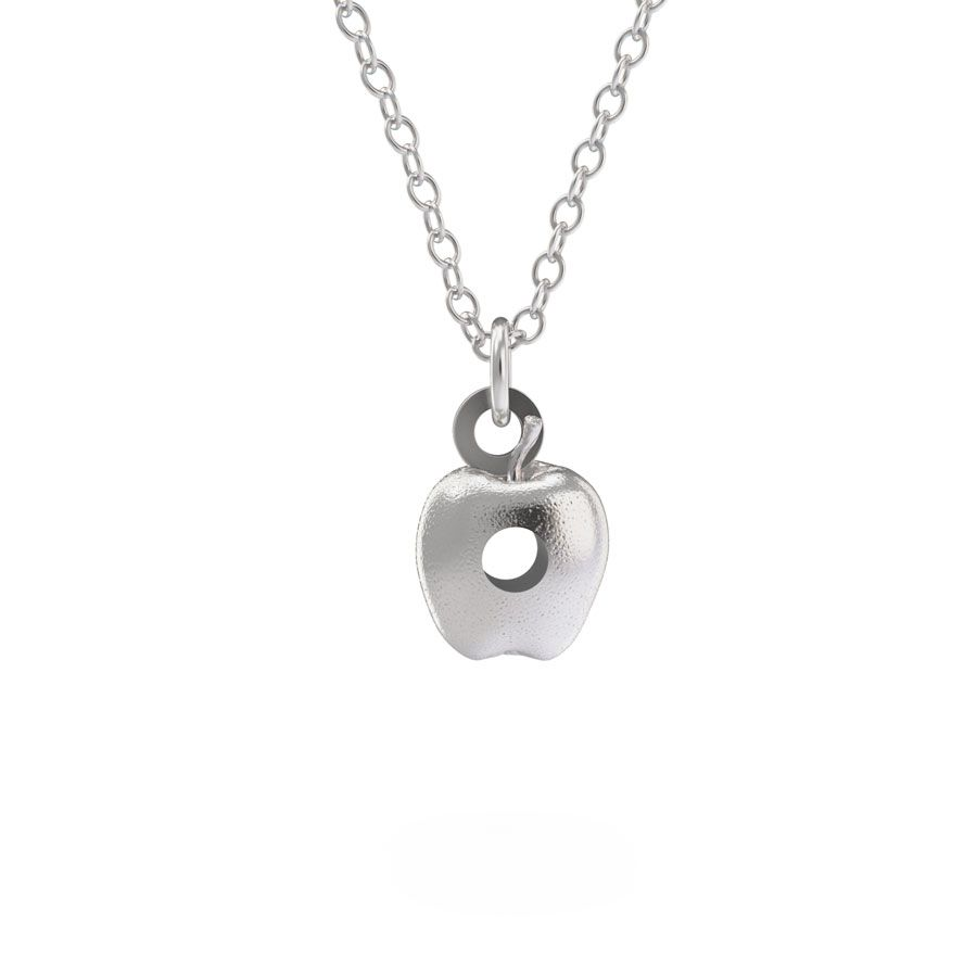 Sterling Silver Very Hungry Caterpillar Apple Necklace Set