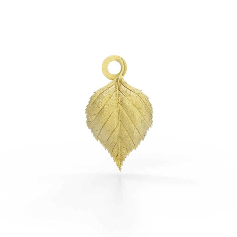 Watership Down - Gold Vermeil Birch Leaf Charm