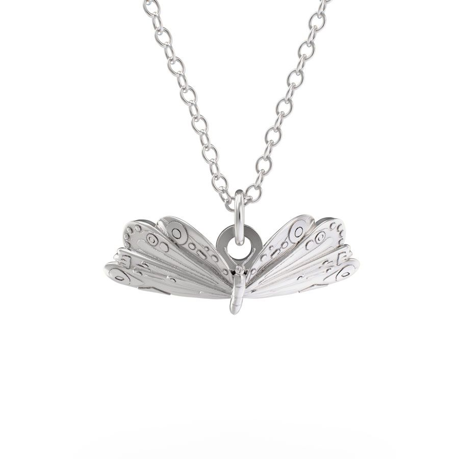 Sterling Silver Very Hungry Caterpillar Butterfly Necklace Set
