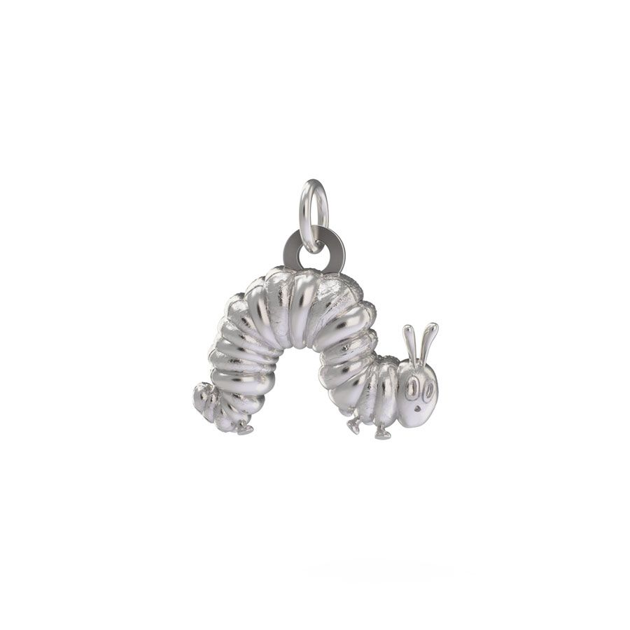 Sterling Silver Very Hungry Caterpillar Charm