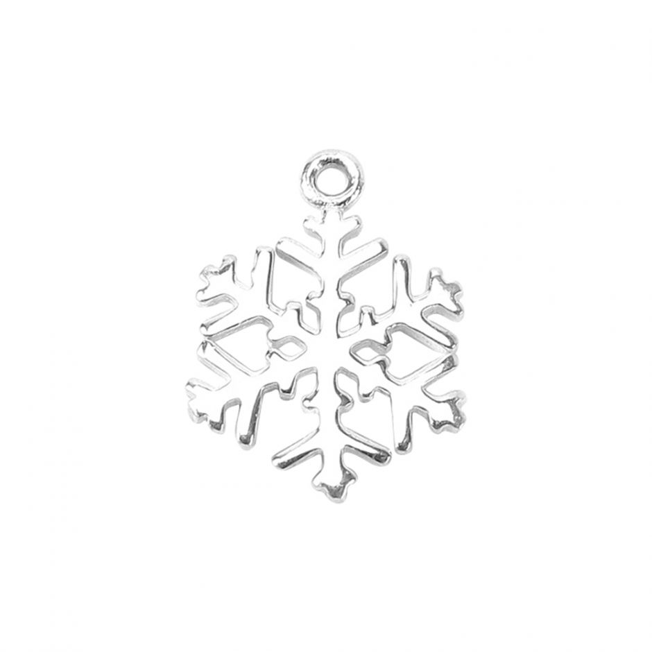 Sterling Silver Snowflake Accent Charm