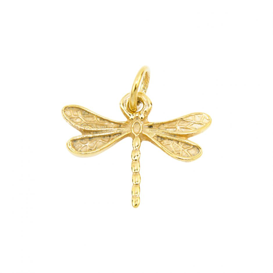 Gold Vermeil Dragonfly Accent Charm