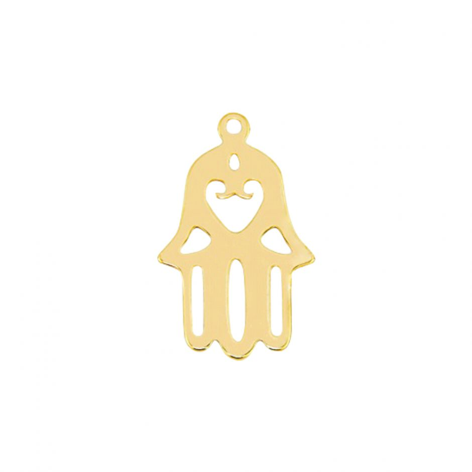 Gold Vermeil Hand of Hamsa Accent Charm