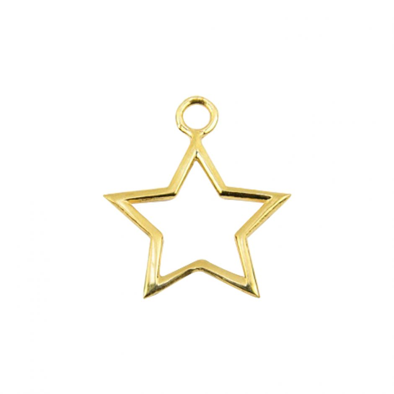 Gold Vermeil Star Accent Charm