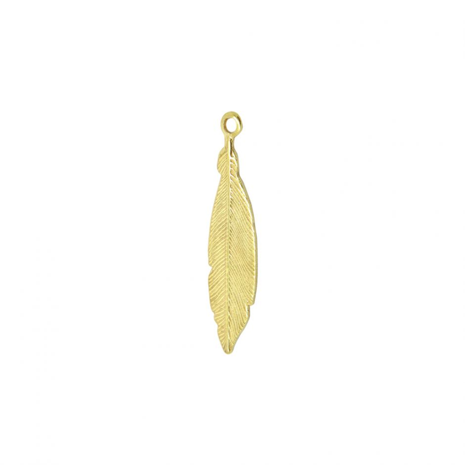 Gold Vermeil Small Feather Accent Charm