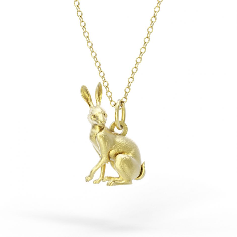 Watership Down - Gold Vermeil Clover Necklace Set