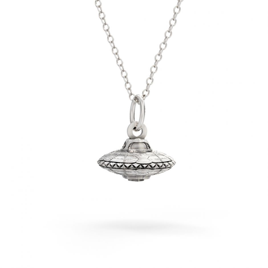Shaun The Sheep - Sterling Silver EW-F-O Spaceship Necklace Set