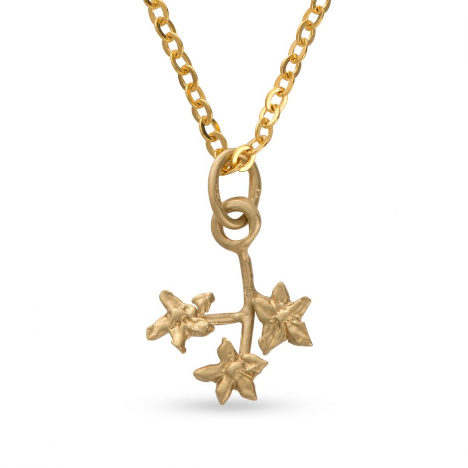 Licensed to Charm - Gold Vermeil Forget Me Not Twig Necklace Set
