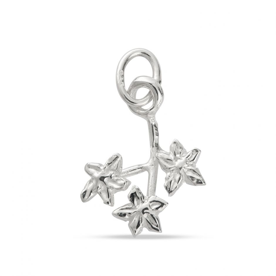 Licensed to Charm - Sterling Silver Forget Me Not Sprig Charm