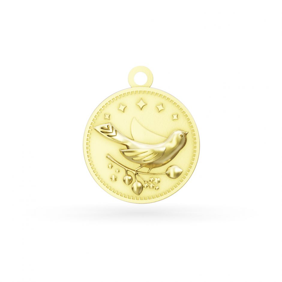 Licensed to Charm - Gold Vermeil Enchanted Animals Bird Charm