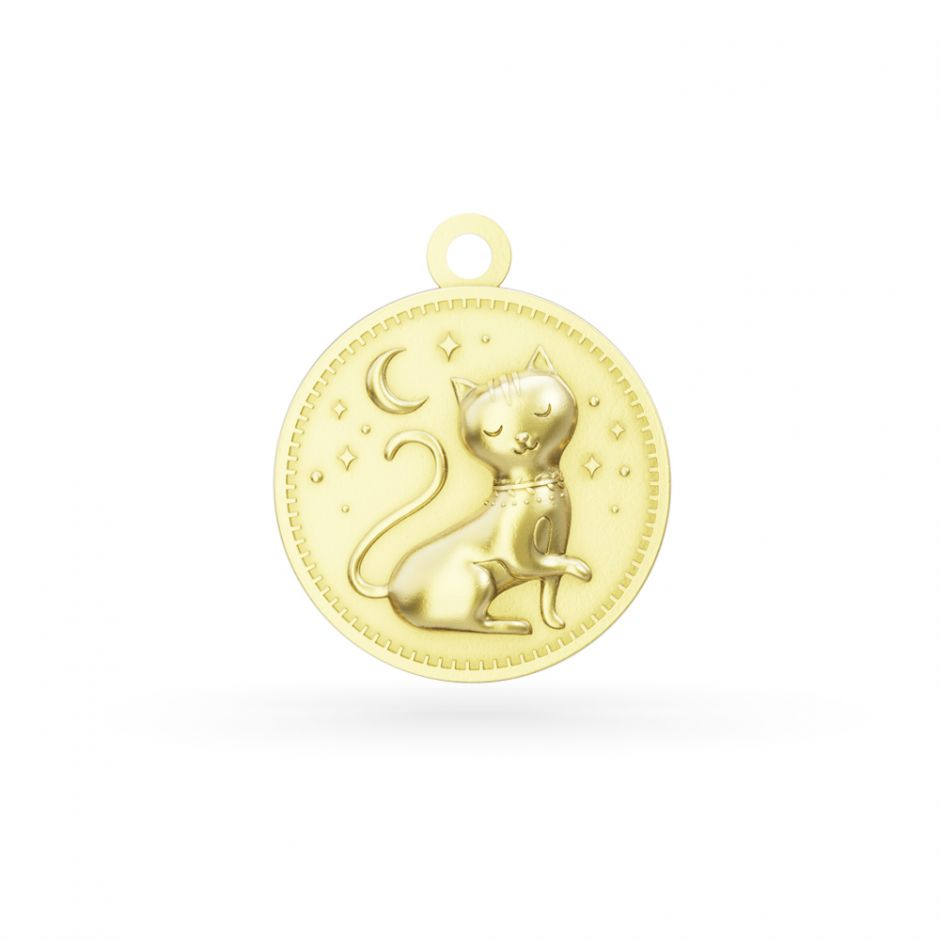 Licensed to Charm - Gold Vermeil Enchanted Animals Cat Charm