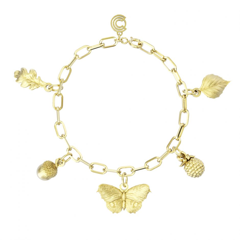 Watership Down - Gold Vermeil Complete Charm Bracelet