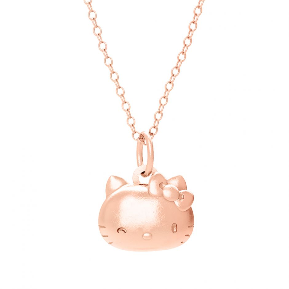 Hello Kitty 18ct Rose Gold Kitty Head Necklace Set