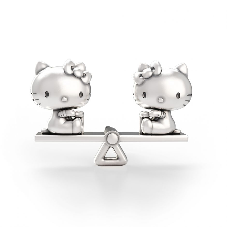 Hello Kitty - Sterling Silver See Saw Brooch