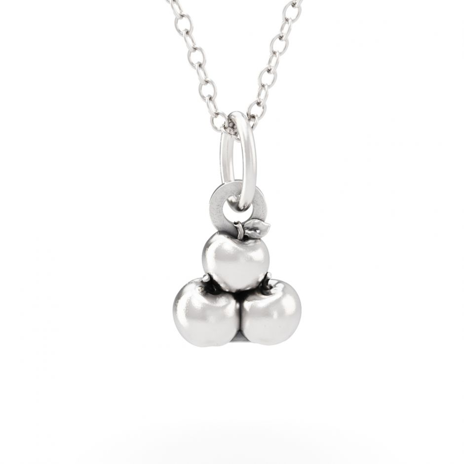 Hello Kitty - Sterling Silver Apple Necklace Set