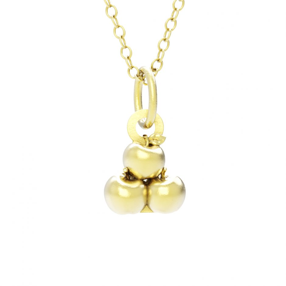 Hello Kitty - 18ct Gold Vermeil Apple Necklace Set
