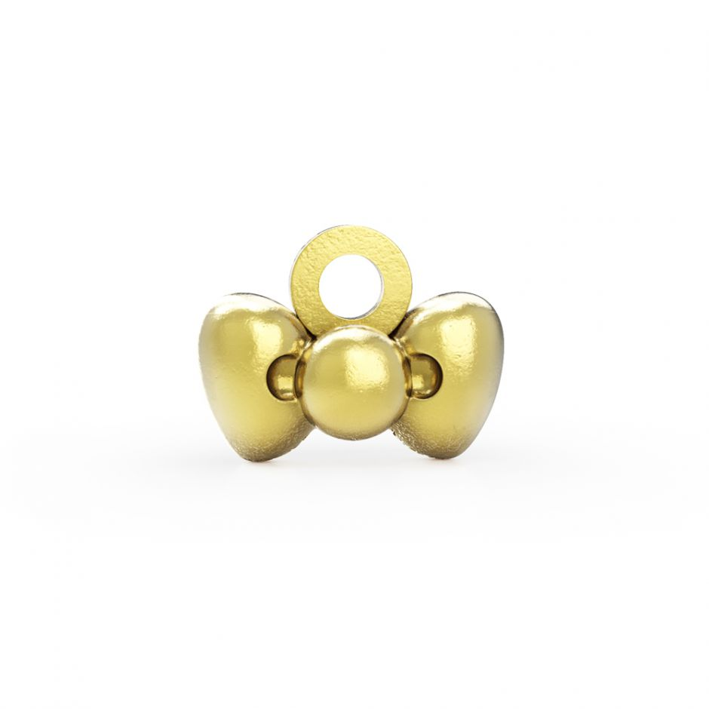 Hello Kitty - 18ct Gold Vermeil Bow Mini Charm