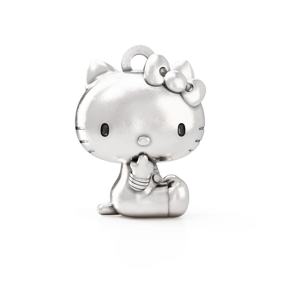 Hello Kitty - Sterling Silver Sitting Kitty Charm