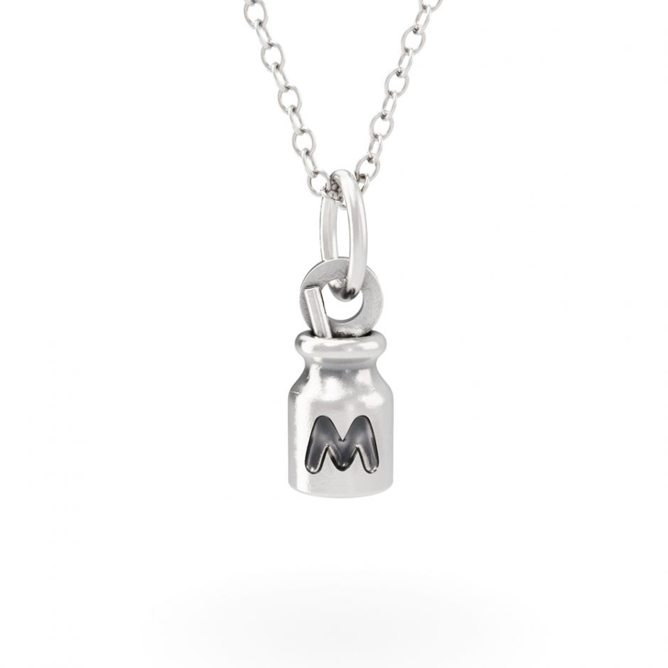 Hello Kitty - Sterling Silver Milk Bottle Necklace Set