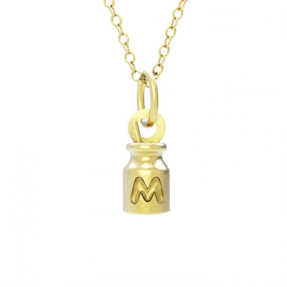 Hello Kitty - 18ct Gold Vermeil Milk Bottle Necklace Set