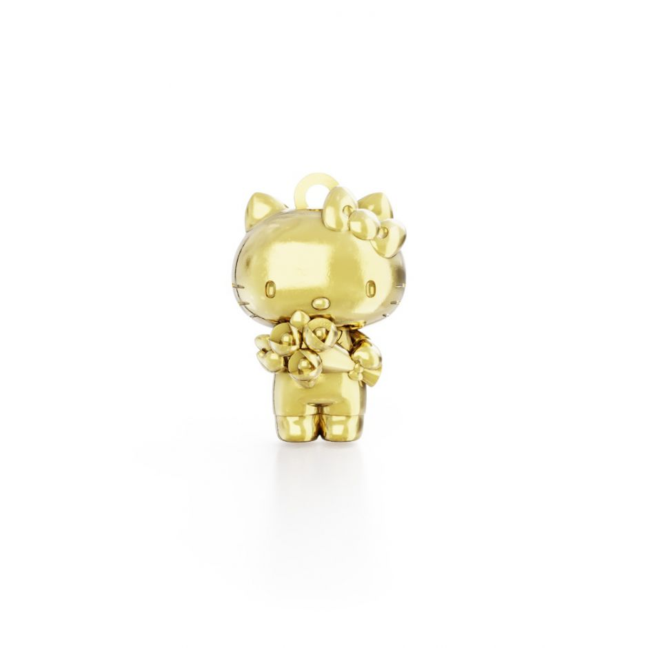 Hello Kitty - Sterling Silver Kitty with Flowers Classic Charm