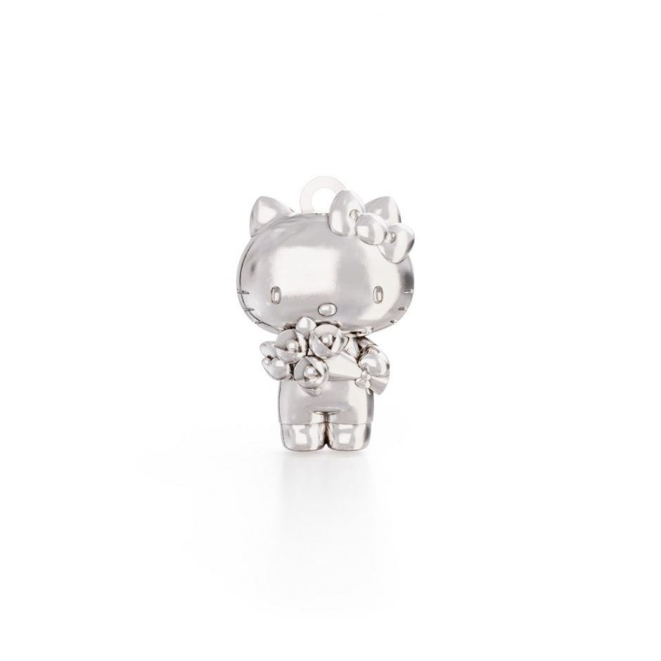 Hello Kitty - Sterling Silver Kitty with Flowers Charm