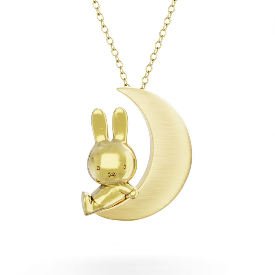 MIFFY & THE MOON 18CT GOLD VERMEIL PENDANT