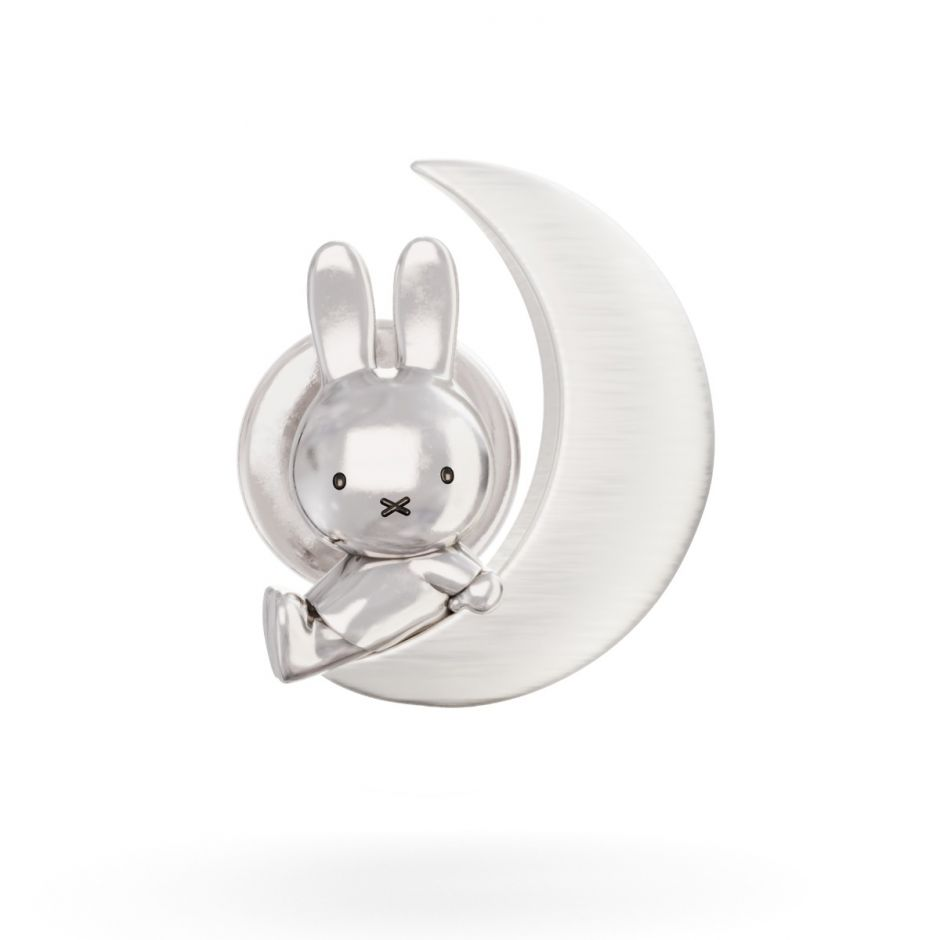 Miffy and the Moon gold brooch