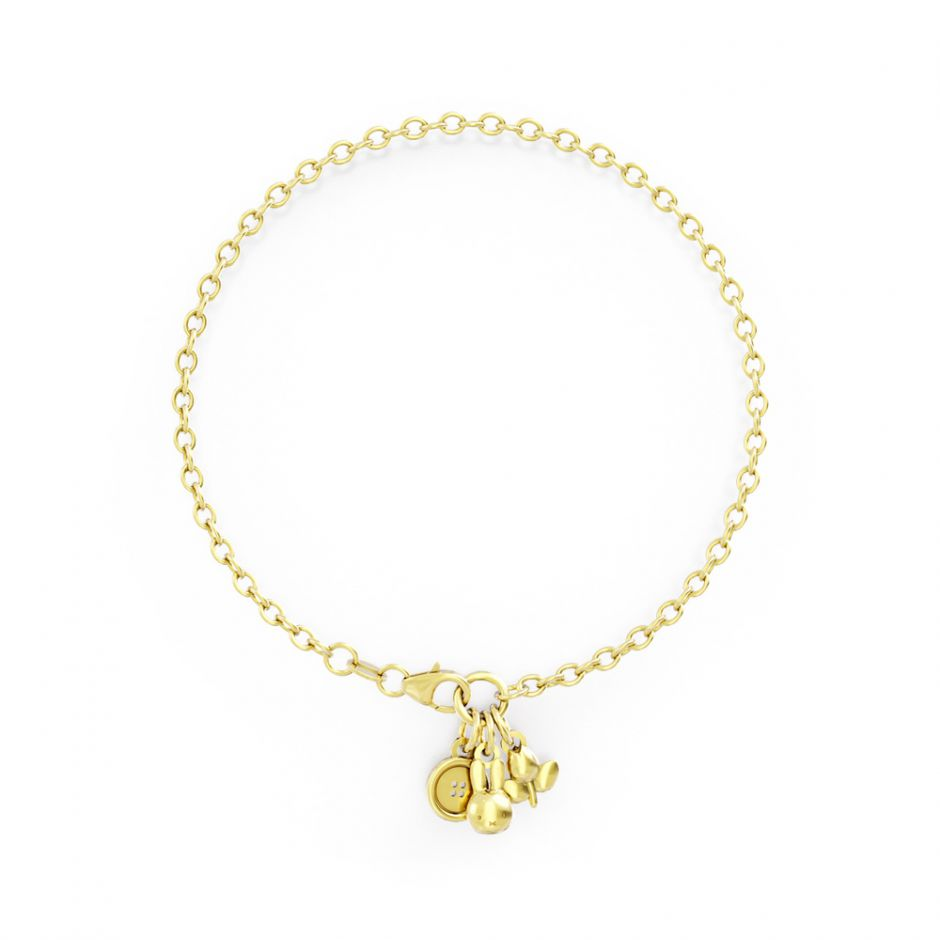 Miffy - 18ct Gold Triple Bracelet Set