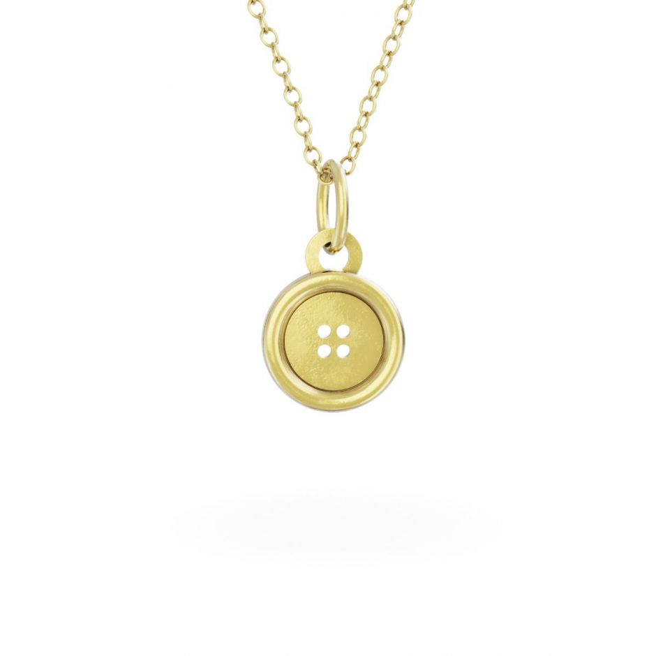 Miffy - 18ct Gold Vermeil Button Necklace Set