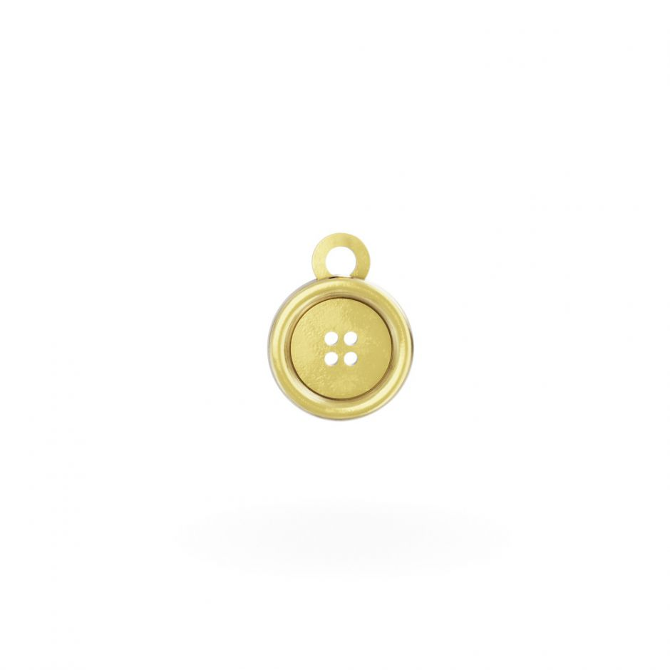 Miffy - 18ct Gold Button Mini Charm