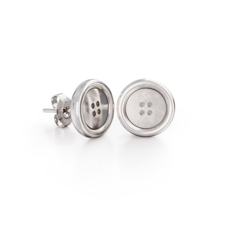 Miffy - Sterling Silver Button Stud Earrings