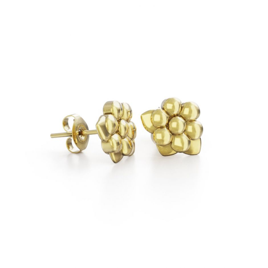 Miffy - 18ct Gold Vermeil Daisy Stud Earrings