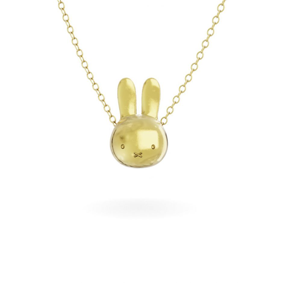 Miffy - 18ct Gold Vermeil Large Head Necklace Set
