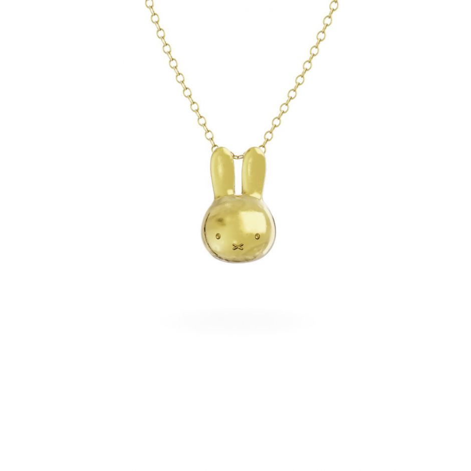 Miffy - 18ct Gold Vermeil Mini Head Necklace Set