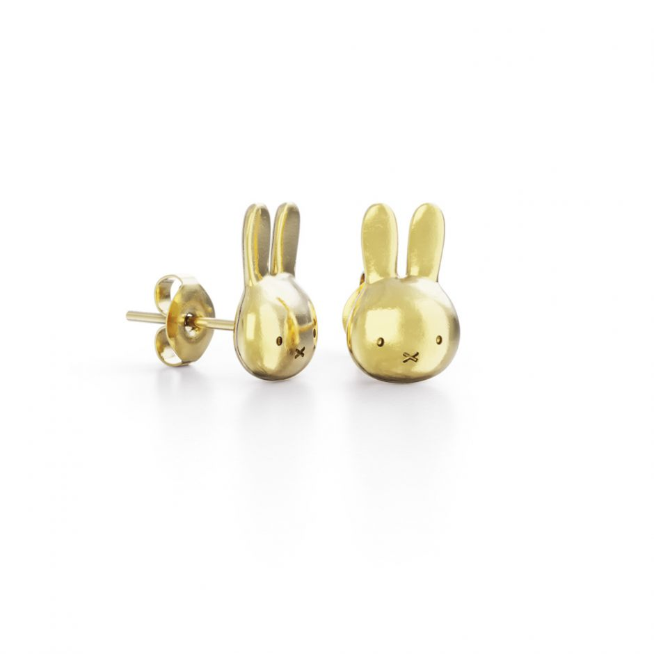Miffy - 18ct Gold Vermeil Mini Head Studs