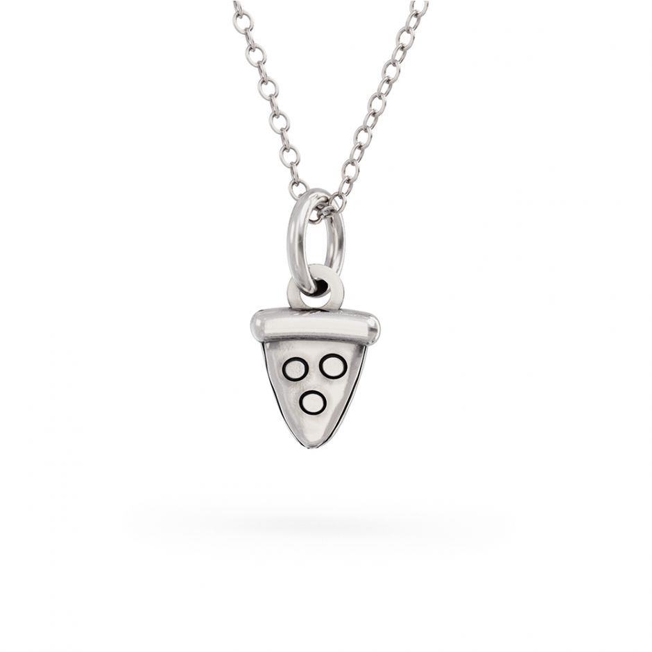 Pusheen Pizza Slice Charm Necklace