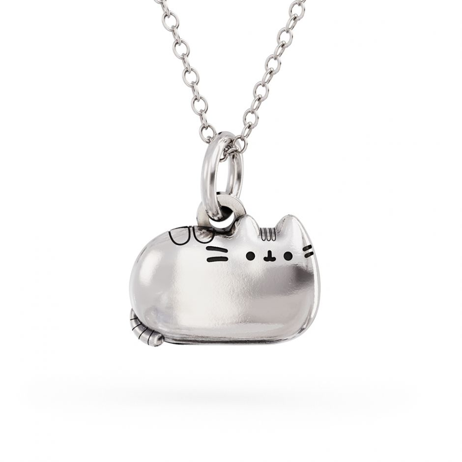 Pusheen Sitting Cat Charm Necklace