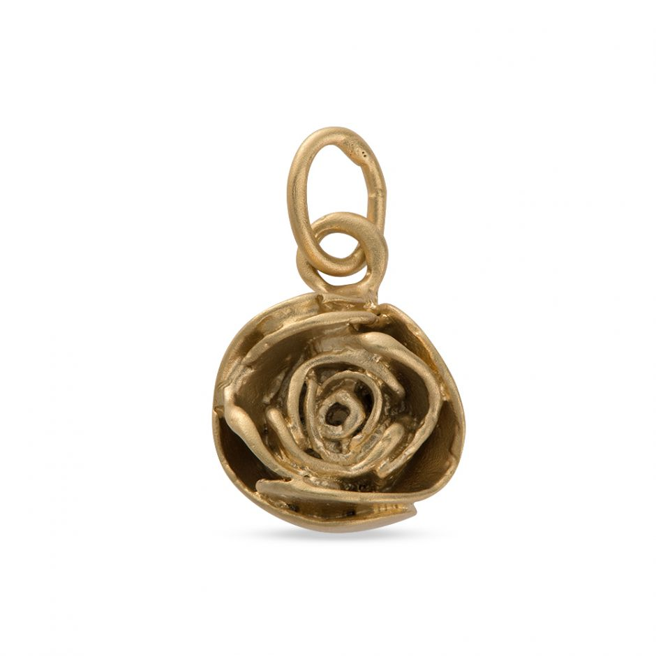 Licensed to Charm - Gold Vermeil Rose Charm