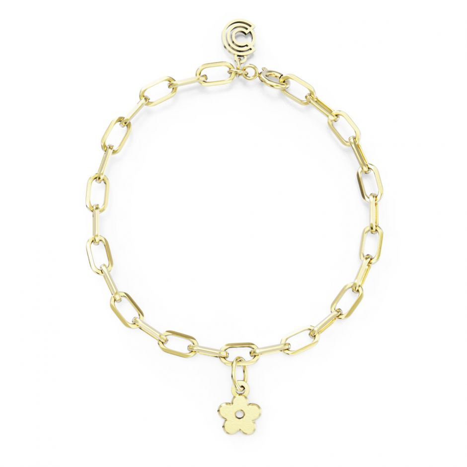 Shaun The Sheep -  Gold Vermeil Single Icon Charm Bracelet