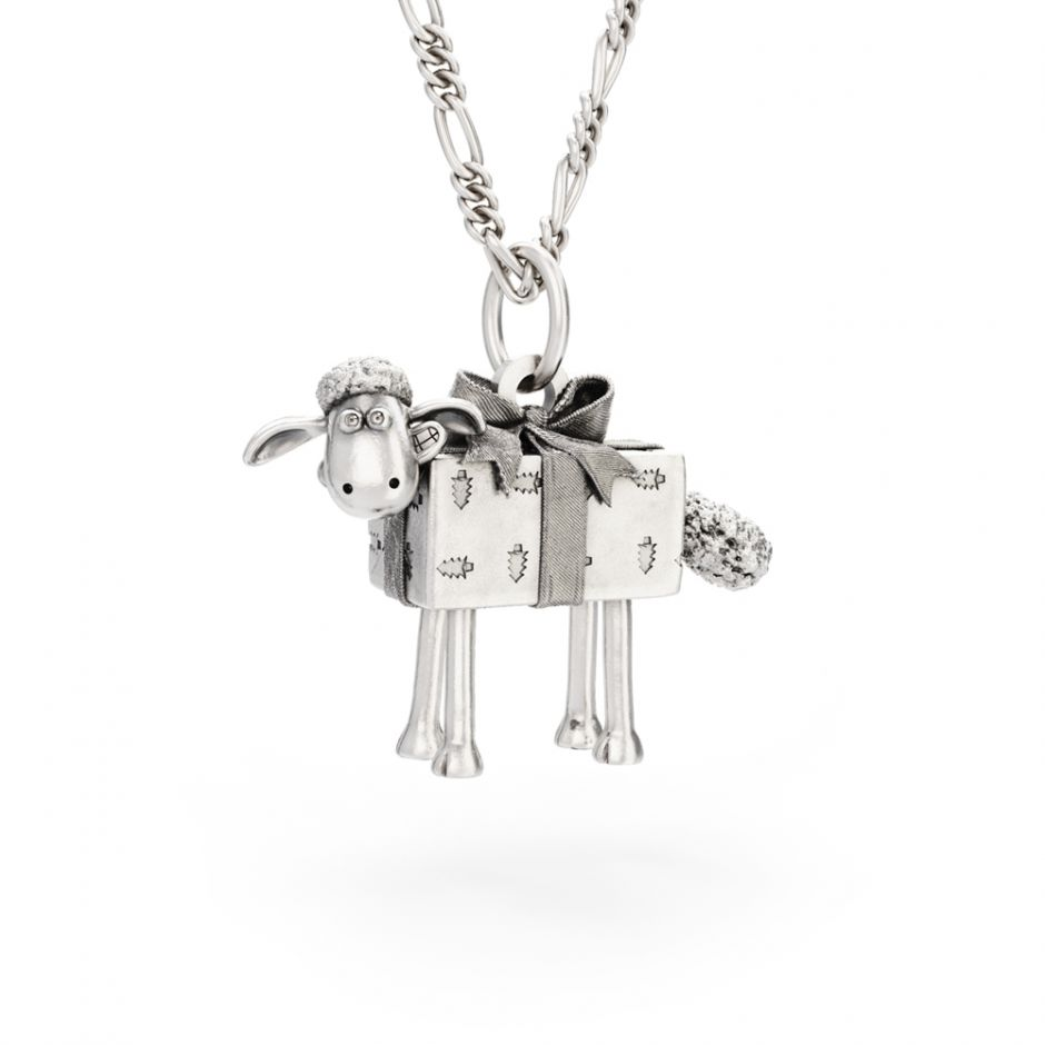 Shaun The Sheep - Christmas Present Shaun Necklace Set