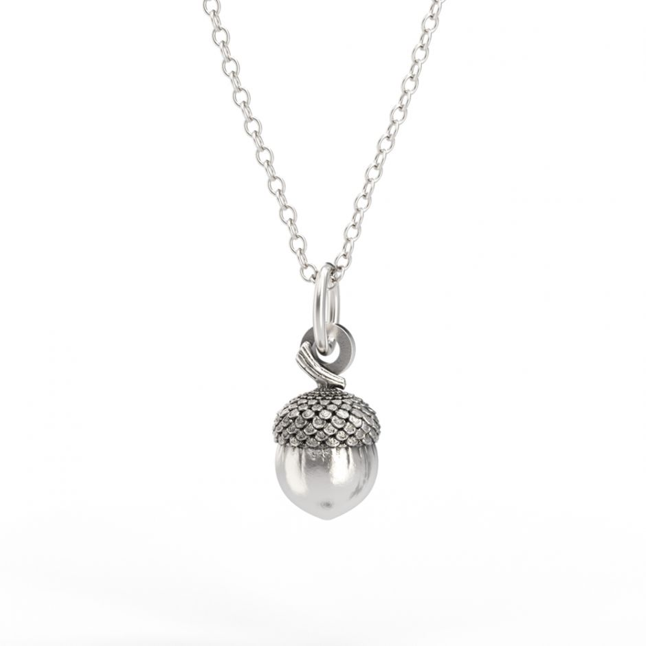 Watership Down - Sterling Silver Acorn Necklace Set