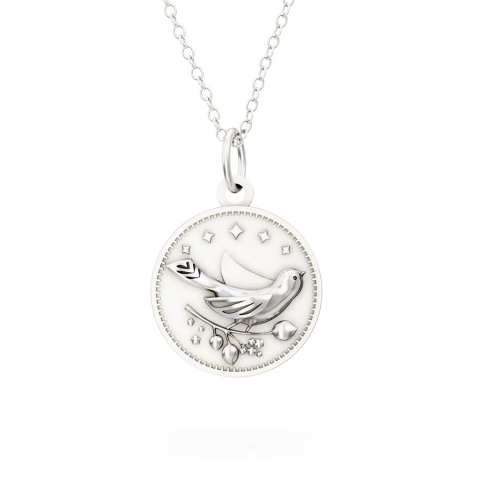 Licensed to Charm - Sterling Silver Enchanted Animals Bird Necklace Set
