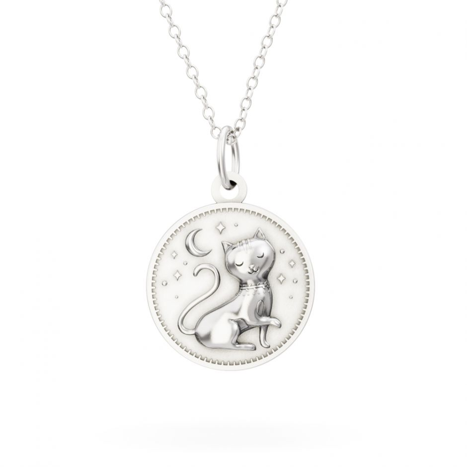 Licensed to Charm - Sterling Silver Enchanted Animals Cat Necklace Set